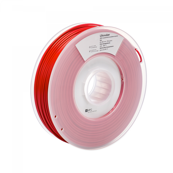 Ultimaker ABS Red 2.85mm Filament   3D APAC Sydney Australia
